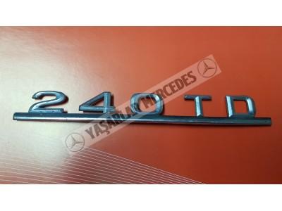 Mercedes 240 TD Yazı Orijinal