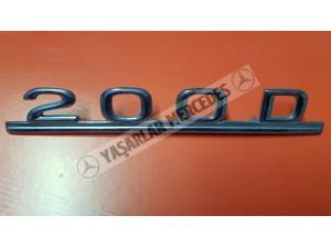 Mercedes 200D Yazı Orijinal
